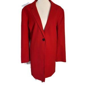Liz Claiborne XXL Red Long Blazer/Jacket